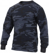 Rothco Long Sleeve T-Shirt Midnight Blue Camo 3637