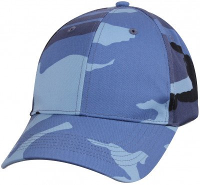 Бейсболка камуфлированная Rothco Supreme Camo Low Profile Cap Sky Blue Camo 8588, фото
