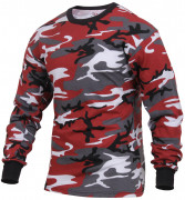 Rothco Long Sleeve T-Shirt Red Camo 3173