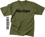 "Футболка тренировочная Rothco Physical Training T-Shirt ""MARINES"" - Olive Drab"