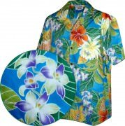 Men's Hawaiian Shirts Allover Prints - 410-3799 Blue