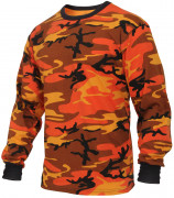 Rothco Long Sleeve T-Shirt Savage Orange Camo 3136
