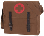 Rothco Vintage Medic Bag With Cross Brown 8586
