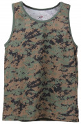 Rothco Camo Tank Top Woodland Digital Camo 8734