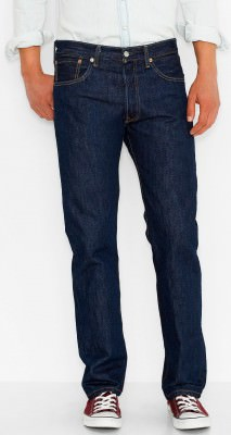 Джинсы мужские Levi's Men's 501 Original Fit Jean / Rinse # 005010115, фото