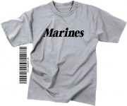 "Футболка тренировочная Rothco Physical Training T-Shirt ""Marines"" - Grey"