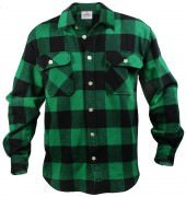 Rothco Buffalo Plaid Flannel Shirt Green 4739