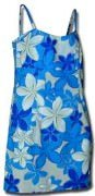 Pacific Legend Short Spaghetti Dress - 306-3429 Blue