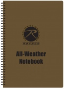 Rothco All Weather Waterproof Notebook Coyote Cover - 44700