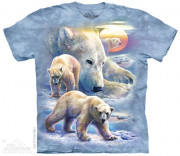 The Mountain T-Shirt Sunrise Polar Bear Collage 105895