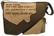 Rothco Vintage Canvas 2-Tone Imprinted Map Bag Olive Drab / Tan 9248