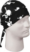 Бандана Military Headwrap - Black w/ Skull & Bones