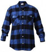 Rothco Buffalo Plaid Flannel Shirt Blue 4739