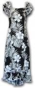 Pacific Legend Long Muumuu Dress - 334-3589 Black