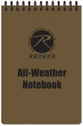 Rothco All Weather Waterproof Notebook Coyote Cover - 44800
