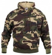 Rothco Camo Pullover Hooded Sweatshirt Woodland Camouflage - 6590