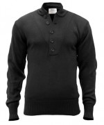 Rothco 5-Button Acrylic Sweater Black 6368
