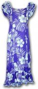 Pacific Legend Long Muumuu Dress - 334-3589 Purple
