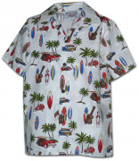 Pacific Legend Boys Hawaiian Shirt 211-3711 White