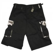 Шорты Rothco Ultra Force Rigid Black w/City Camo Accents Cargo Shorts