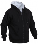 Rothco Heavyweight Sherpa Lined Zippered Sweatshirt Black - 8266