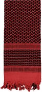 Rothco Shemagh Tactical Desert Scarf Red / Black - 8537