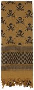 Rothco Skulls Shemagh Tactical Desert Scarf Coyote Brown 8539