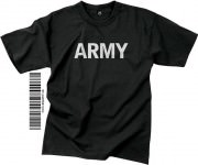 "Футболка тренировочная Rothco Physical Training Reflective Grey T-Shirt ""ARMY"" - Black"