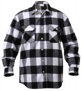 Rothco Buffalo Plaid Flannel Shirt White 4739