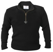 Rothco Quarter Zip Acrylic Commando Sweater Black 3390