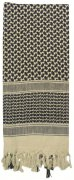 Rothco Shemagh Tactical Desert Scarf Tan / Black - 8537