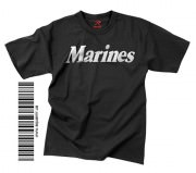 "Футболка тренировочная Rothco Physical Training Reflective Grey T-Shirt ""Marines"" - Black"