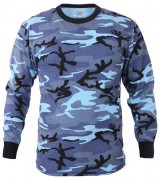 Rothco Long Sleeve T-Shirt Sky Blue Camo - 67770