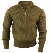 Rothco Quarter Zip Acrylic Commando Sweater Olive Drab 3370