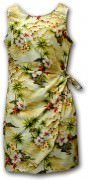 Pacific Legend Hawaiian Sarong Dress - 313-3238 Maize