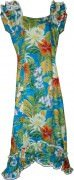 Pacific Legend Long Muumuu Dress - 334-3799 Blue
