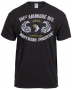 Black Ink Distressed 101st Airborne Division T-Shirt 80353