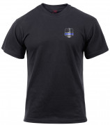 Rothco Thin Blue Line Shield Athletic Fit T-Shirt 2937