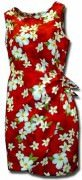 Pacific Legend Hawaiian Sarong Dress - 313-3236 Red