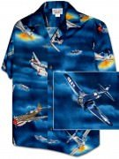 Men's Hawaiian Shirts Allover Prints - 410-3816 Navy