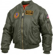 Rothco MA-1 Flight Jacket with Patches Sage Green
