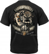 Black Ink U.S.M.C. Bulldog T-Shirt 80330
