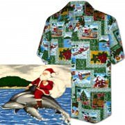 Men's Hawaiian Shirts Allover Prints 410-3818 Green