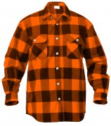 Rothco Buffalo Plaid Flannel Shirt Orange 4672