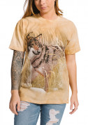The Mountain T-Shirt Winter Wolf Portrait 105891