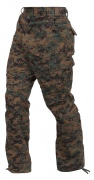 Rothco Vintage Paratrooper Fatigue Pants Woodland Digital Camo - 2366