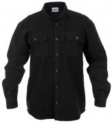 Rothco Heavy Weight Solid Flannel Shirt Black 4637