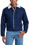 Wrangler Men's Sherpa Lined Denim Jacket Denim