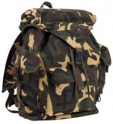 Rothco Canvas Outdoorsman Rucksack / Woodland Camo # 2306