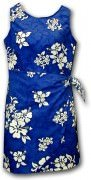 Pacific Legend Hawaiian Sarong Dress - 313-3156 Blue